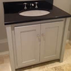 Vanity Uk Pavilion Grey Vanity Unit With Black Granite Top Aspenn