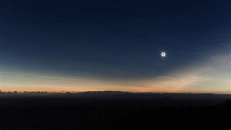 Landscape Photography During Solar Eclipse Total Solar Eclipse Time Lapse Captures Shadow Sweeping