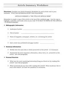 Science Article Summary Template by Best Photos Of News Article Summary Worksheet Newspaper