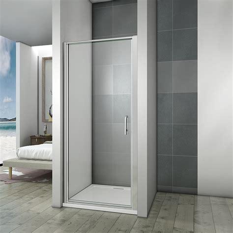 1000 Pivot Shower Door Aica Pivot Shower Door Enclosure Walk In Screen Glass Panel 700 760 800 900 1000 Ebay