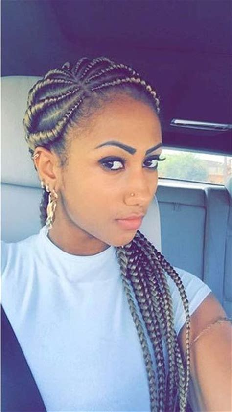 styles of ghana braids using different colours of attachment 50 ghana braids styles herinterest com