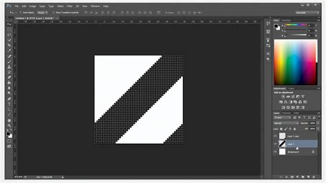 get color from image photoshop create diagonal pattern