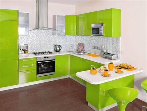 lime green and orange kitchen idei pentru o bucatarie amenajata in nuante de verde 13