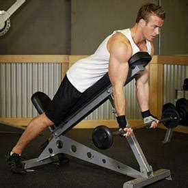 incline bench substitute standing one arm dumbbell curl over incline bench exercise