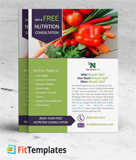 nutrition brochure template flyers for free nutrition flyer www gooflyers