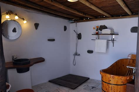 Yurt Bathroom by Eco Luxury Yurt Suite Lanzarote Retreats