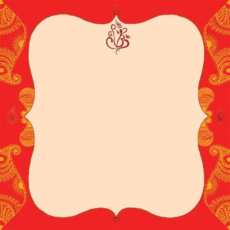 hindu wedding card templates free indian wedding card empty blank wedding invitation