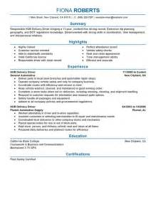 Delivery Driver Sle Resume by Unforgettable Hub Delivery Driver Resume Exles To Stand Out Myperfectresume