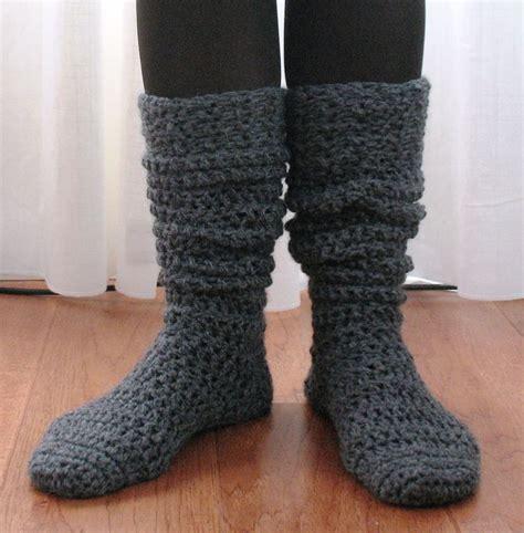 pattern boot socks ball hank n skein knee high boot socks crochet