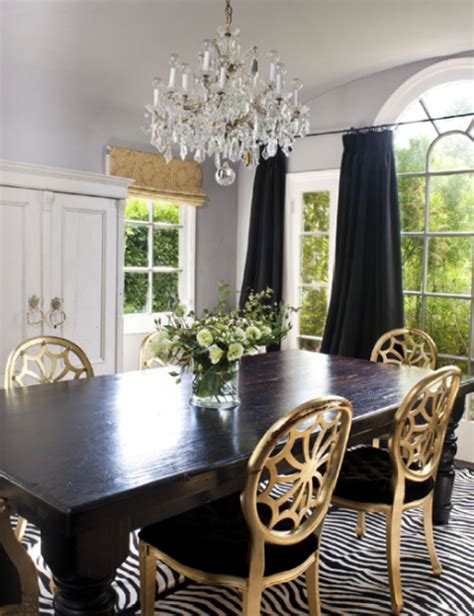 Gold Dining Room Am Dolce Vita Rustic Glam With Harvest Table