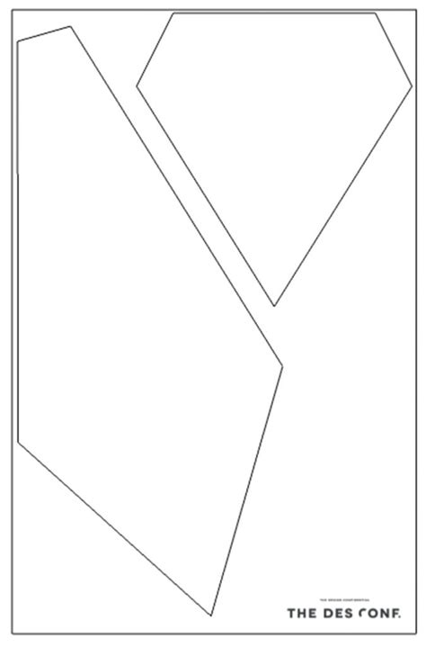 templates for geometric shapes diy geometric l shape template craft ideas pinterest