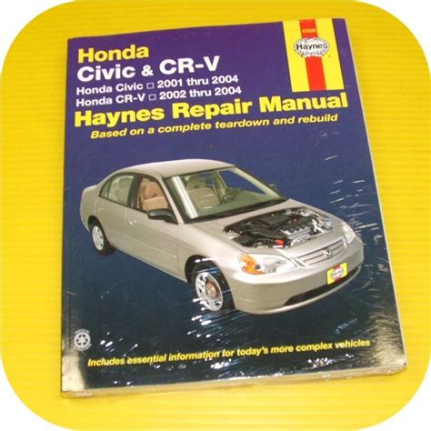 automotive service manuals 1995 honda civic free book repair manuals repair manual book honda civic 01 04 crv cr v owners ebay