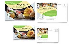 catering business card ideas food catering postcard template design