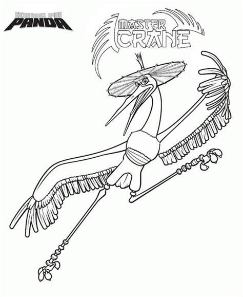 kung fu panda crane coloring master crane of kung fu panda coloring page