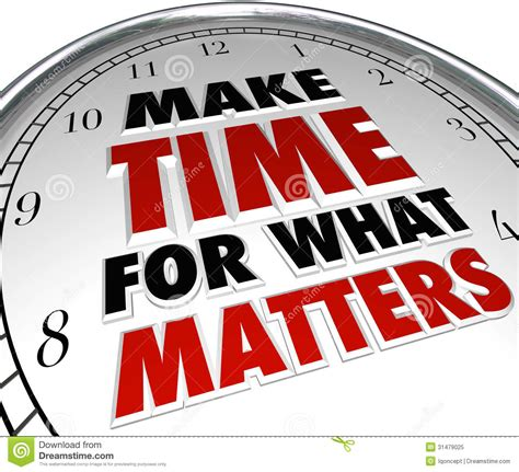 time to build make time for what matters words on clock stock illustration illustration of concept