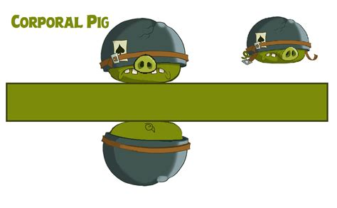 angry bird pig template corporal pig template by bluejay5678 on deviantart