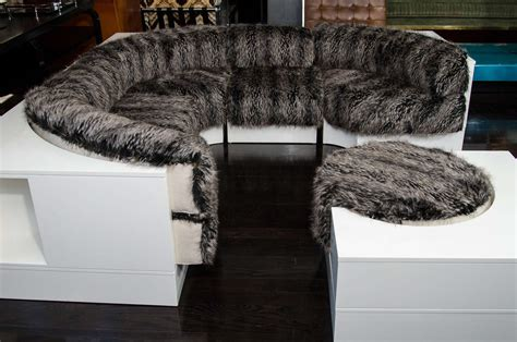 fur sofa party sofa covered in faux fur at 1stdibs