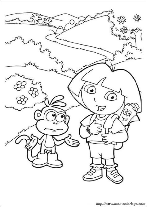 dora coloring pages map coloring dora the explorer page map backpack and dora