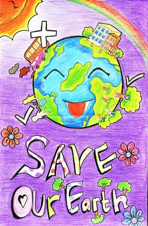 Handmade Posters - handmade posters on save earth from global warming 2016