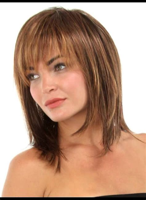above the shoulder haircut with soft bangs hairstyles without bangs for women over 50
