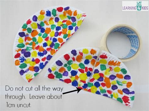Umbrella Paper Craft - paper plate umbrella craft learning 4