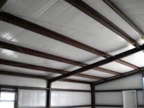 steel shed roof insulation desk work