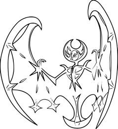 Page Coloring Pages lunala coloring page