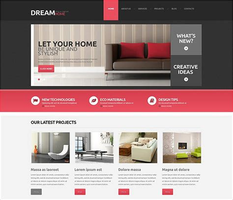 theme wordpress udesign 20 interior design wordpress themes templates free
