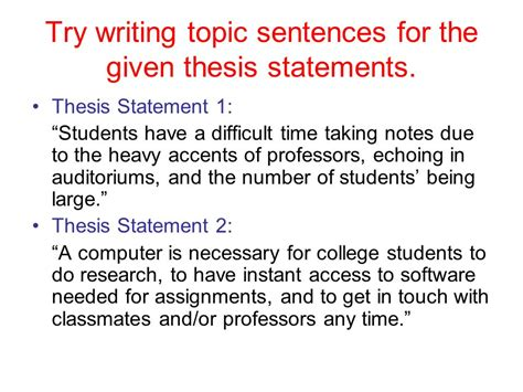 Thesis Question Exle by Thesis Statement Practice 28 Images Worksheets Writing