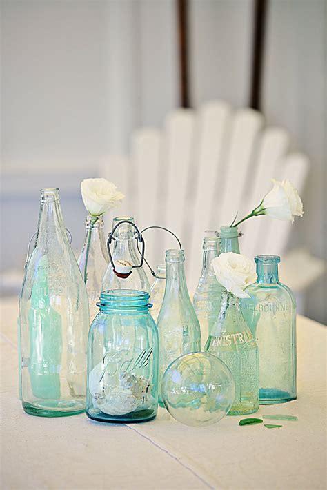 Botol Shabby Chic Decoupage coastal vintage bottles for beachy nautical decor