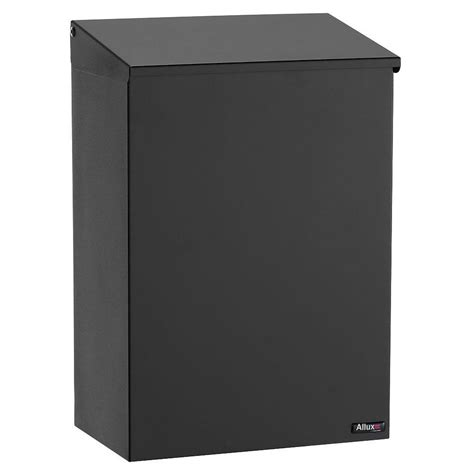 allux black wall mount mailbox alx 100 bk the home depot