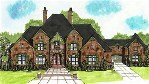 porte cochere home plans european house plan with porte cochere 13499by