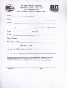show entry form template best photos of blank car show registration form car show