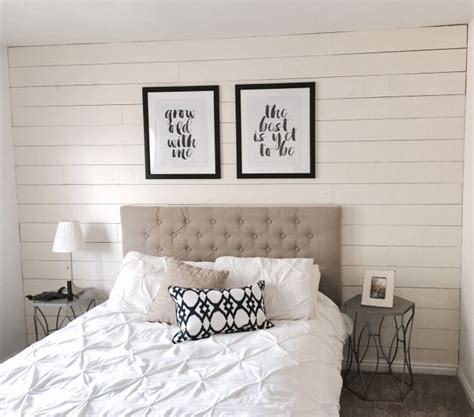white wood wall bedroom walls shiplap paneled walls wood one afternoon ship lap accent wall plank wall bedroom