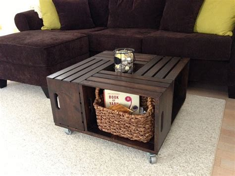 Coffee Table Made From Wooden Crates Items Similar To Wooden Crate Coffee Table On Etsy