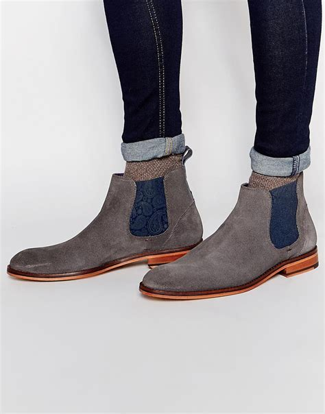 mens grey chelsea boots grey suede chelsea boots mens boots image
