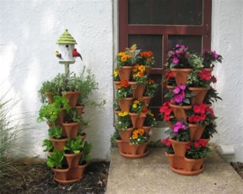 vertical stackable planters are a great idea the whoot