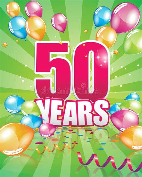 clipart auguri compleanno 50 anni di biglietto di auguri per il compleanno