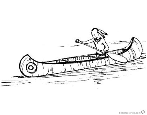 indian canoe coloring page canoeing coloring pages indian canoeing free printable