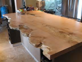 How To Seal A Bar Top Live Edge Character Slab Kitchen Island By Live Edge Via