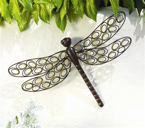 garden wall ornaments uk outdoor metal dragonfly garden wall h42cm 163 19 99