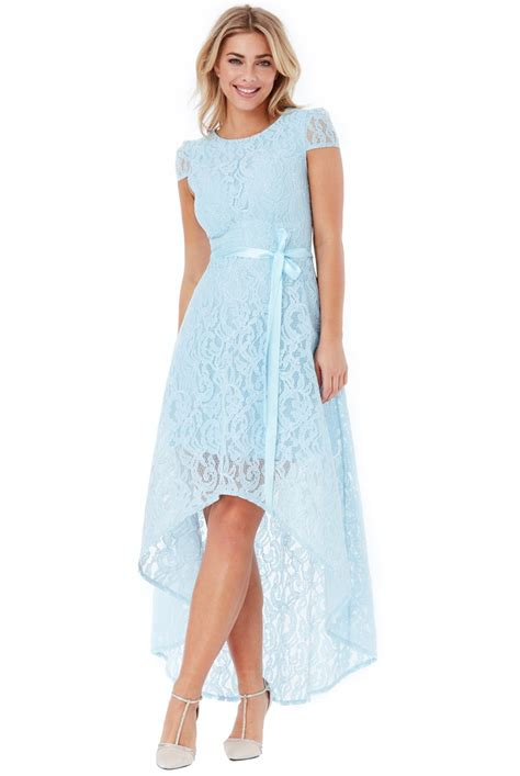 Maxi Lace asymmetric lace maxi dress lightblue asymmetric lace