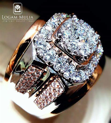 Cincin Mewah Safir Cylon Bertabur Berlian jual cincin berlian pria armc 603563b eenn logammuliajewelry