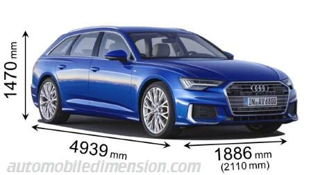 Audi A6 Size Dimensions by Dimensions Of Audi Cars Showing Length Width And Height