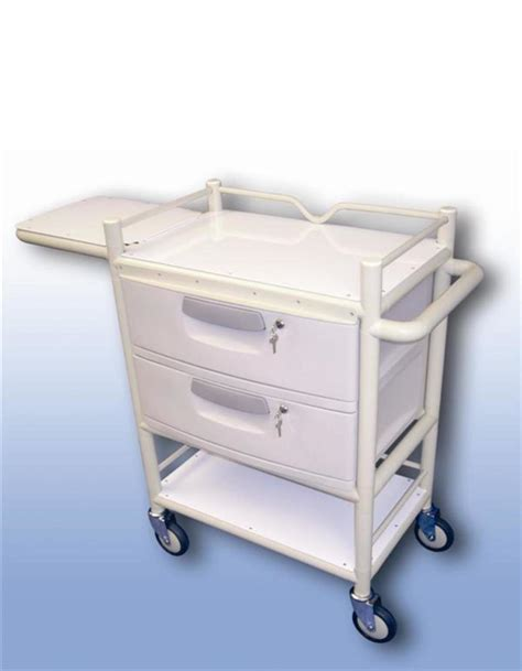 Fold Away Table by Take Lockable Two Drawer Trolley With Fold Away Table