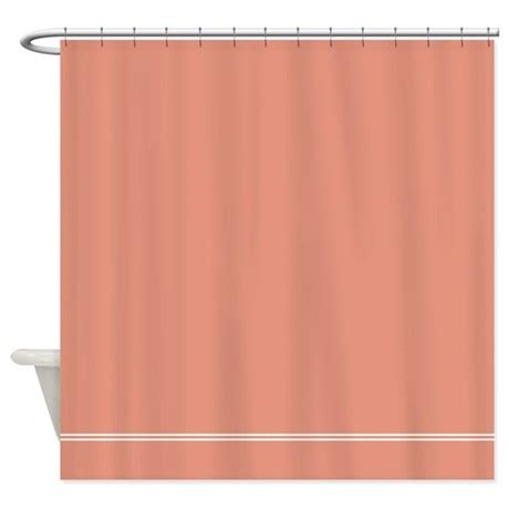 Coral Salmon Pink Shower Curtain By Inspirationzstore