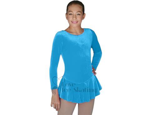 Lb Dress Set chloenoel velvet skating dress blue skating