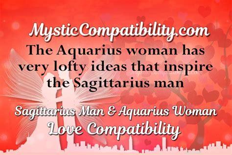 sagittarius man aquarius woman compatibility mystic