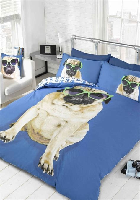 funky bed sets pug quilt duvet cover or cushion cover bedding bed