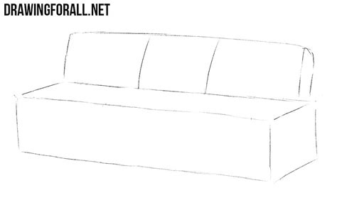 How To Draw A Sofa by How To Draw A Drawingforall Net